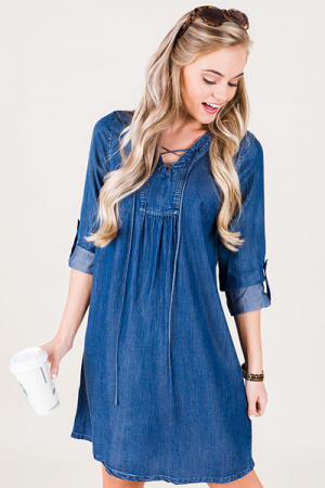 Tencel Lace-up Dress