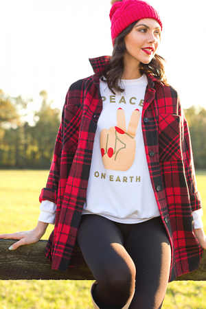 Peace On Earth Pullover