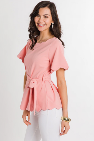 Hathaway Scallop Trim Blouse