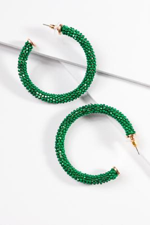 Bead Wrap Hoop, Green