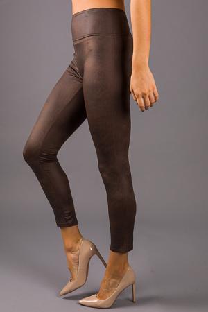 Matte Faux Leather Legging, Brown