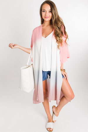 Dip Dyed Duster, Peach