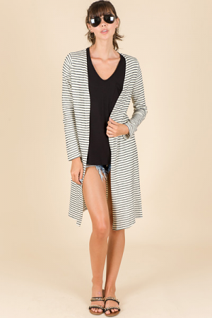 Shrug off Stripes Cardi