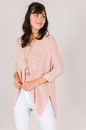 Harper Sweater, Blush