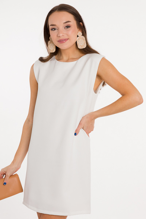 Queen B Dress, White