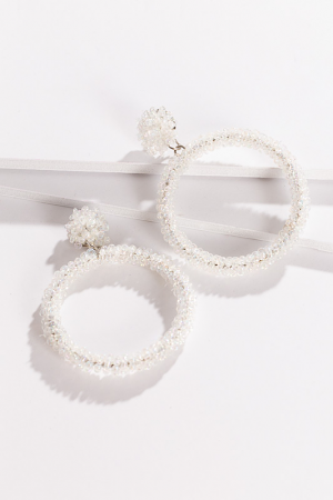 Crystal Pop Earring, Clear