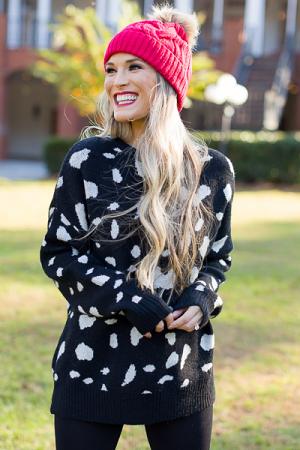 Amy Animal Sweater, Black
