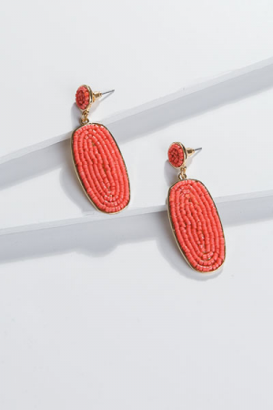 Dazzling Drop Ear, Hot Coral