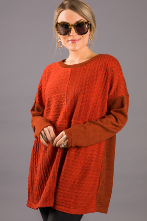 Four Way Tunic, Rust