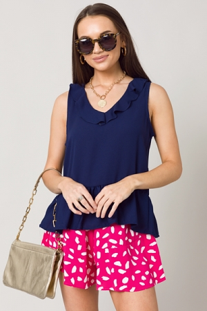 Britton Top, Solid Navy