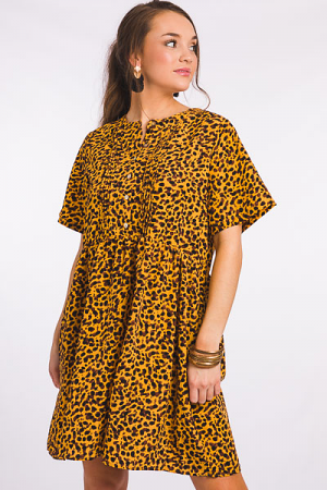 Animal Pintuck Dress