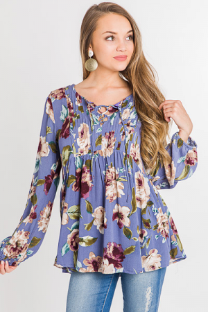 Dusty Lilac Blooms Top