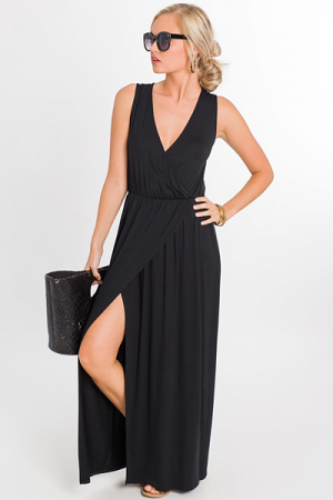 Simply Wrapped Maxi, Black