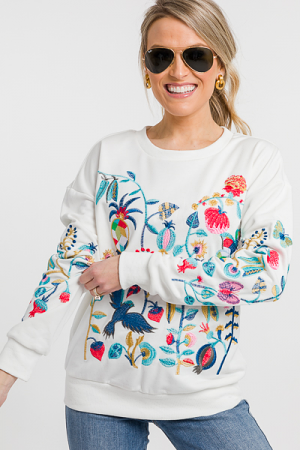 Emmy Embroidered Sweatshirt