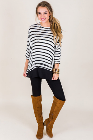 Everything Striped Top, Black