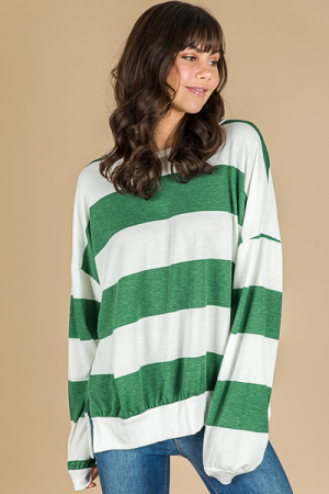 Bold Stripes Pullover, Green