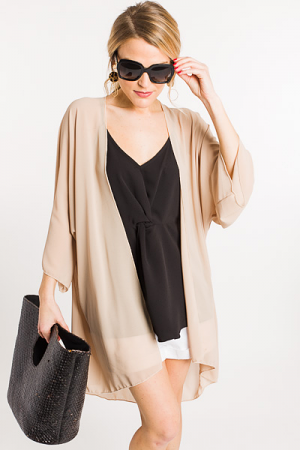 Gone with the Wind Kimono, Taupe