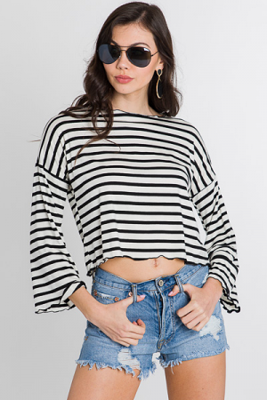Ruffle Edge Crop Top
