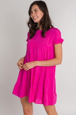 Summer Fling Tier Dress, Pink