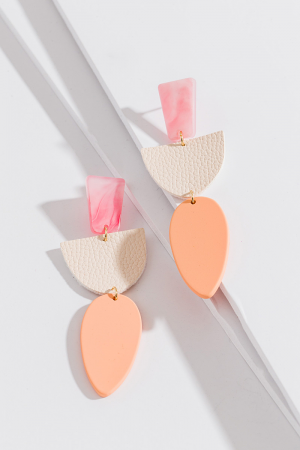 Peach Martini Earring
