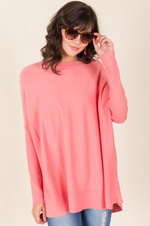 Bianca Sweater, Coral