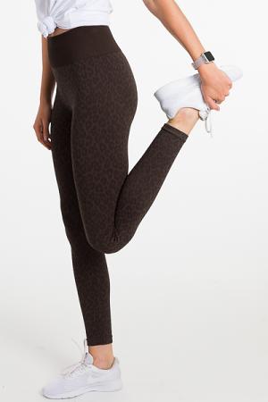 Nicki Leopard Legging, Gray