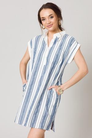 Boardwalk Shirt Dress, Blue