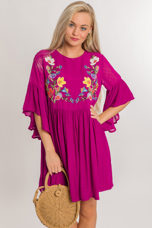 Whimsy Wonderland Dress, Magenta