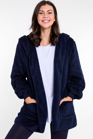 Snuggle Up Fuzzy Topper, Navy