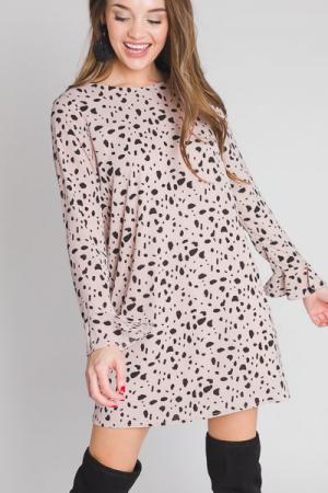 Misty Speckled Dress