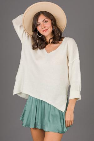 Keep it Simple Sweater, Ivory