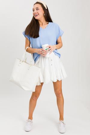 Flirty Mini Skirt, Off White