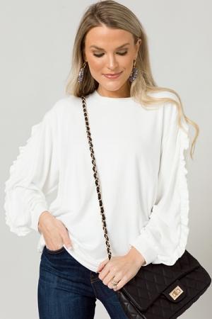 Logan Soft Pullover, Ivory