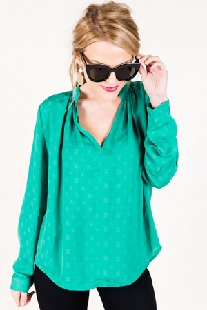 Gimme Love Blouse, Jade