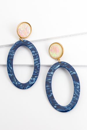Blue Domino Duo Earrings
