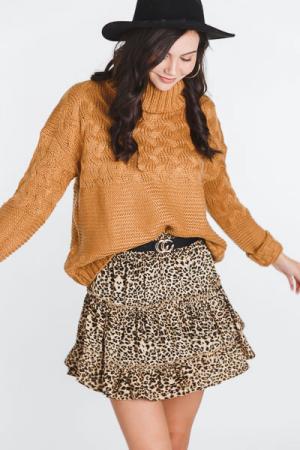 Cheetah Tiered Skirt