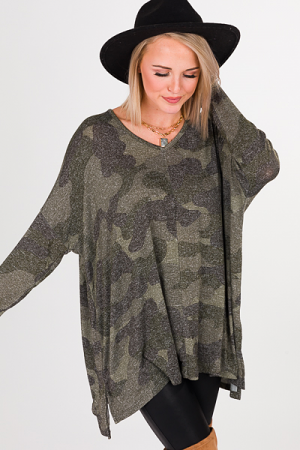 Elsie Sweater, Green Camo