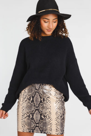 Shiny Snake Mini Skirt