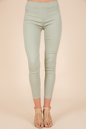 Mint Pull On Pants