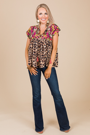 Wild One Embroiery Top