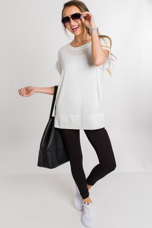 Just Relax Sweater Tee, White