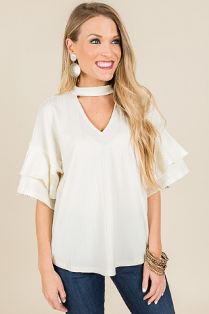Best Choker Top, Off White