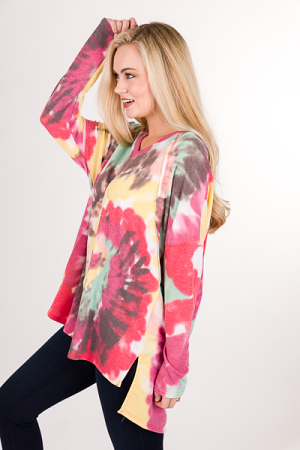 Splash of Color Tunic, Mint Mix