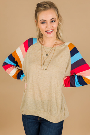 Colorblock Sleeves Pullover