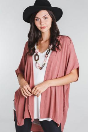 Grab and Go Kimono, Mauve