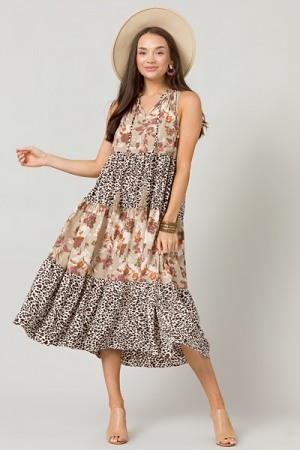 Wild About Floral Maxi, Sand