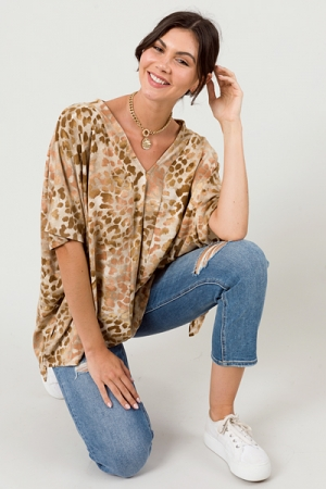 Wild At Heart Poncho, Brown