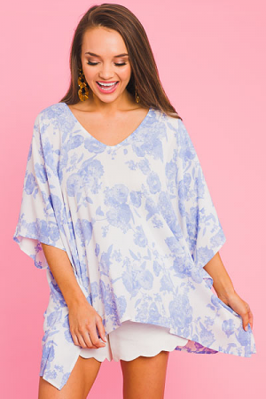 Blue Florals Blouse
