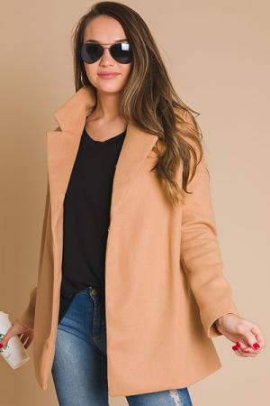 Blazer Coat, Mocha