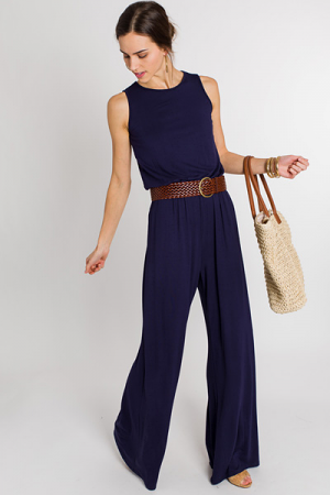 Navy Pocket Jumpsuit